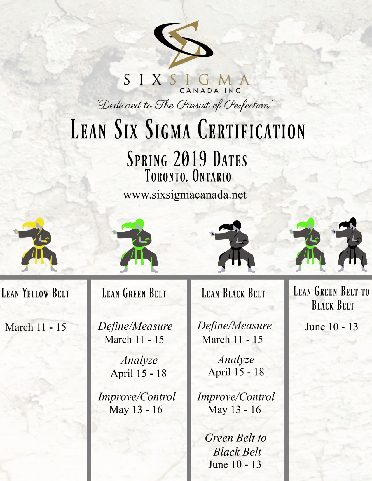 Six Sigma Canada Certification Advertisement