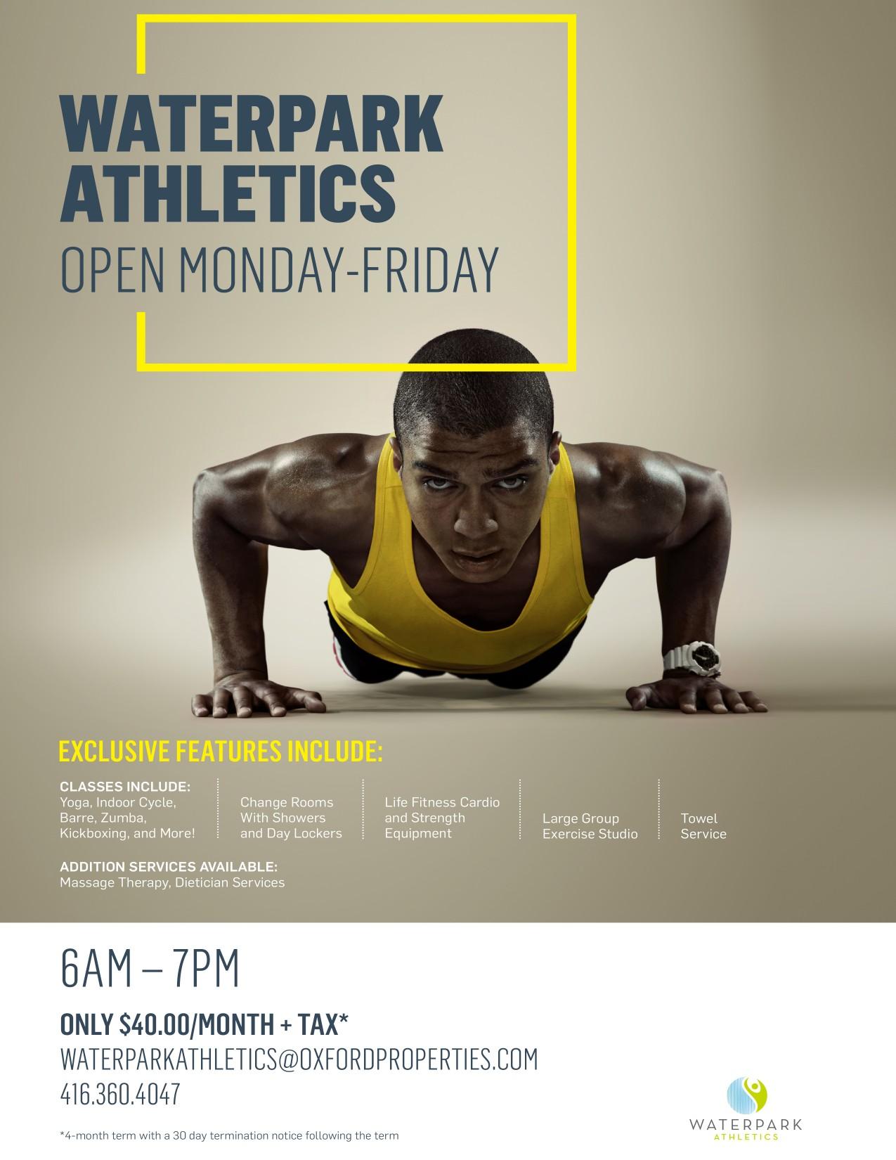 Waterpark Athletics Rostie Group Advertisement