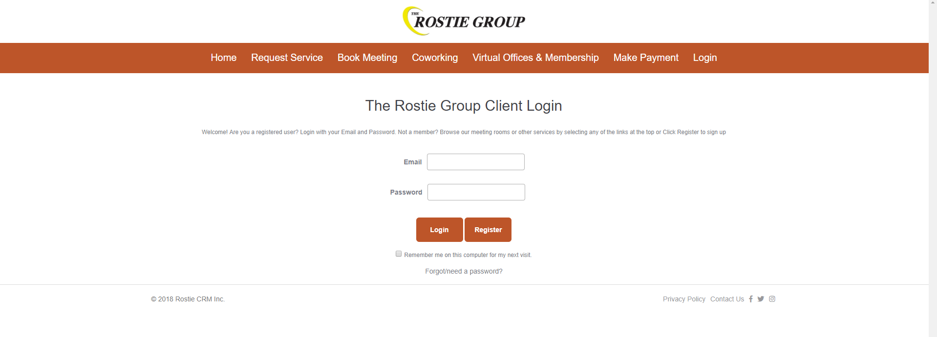 Rostie Group Online Booking Portal Advertisement