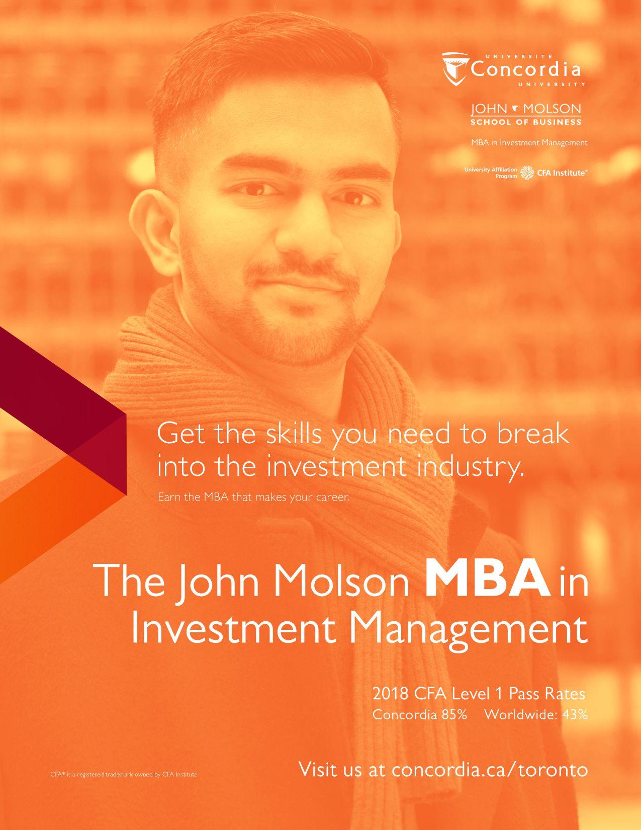 Concordia University John Molson School Rostie Group Scoop Advertisement