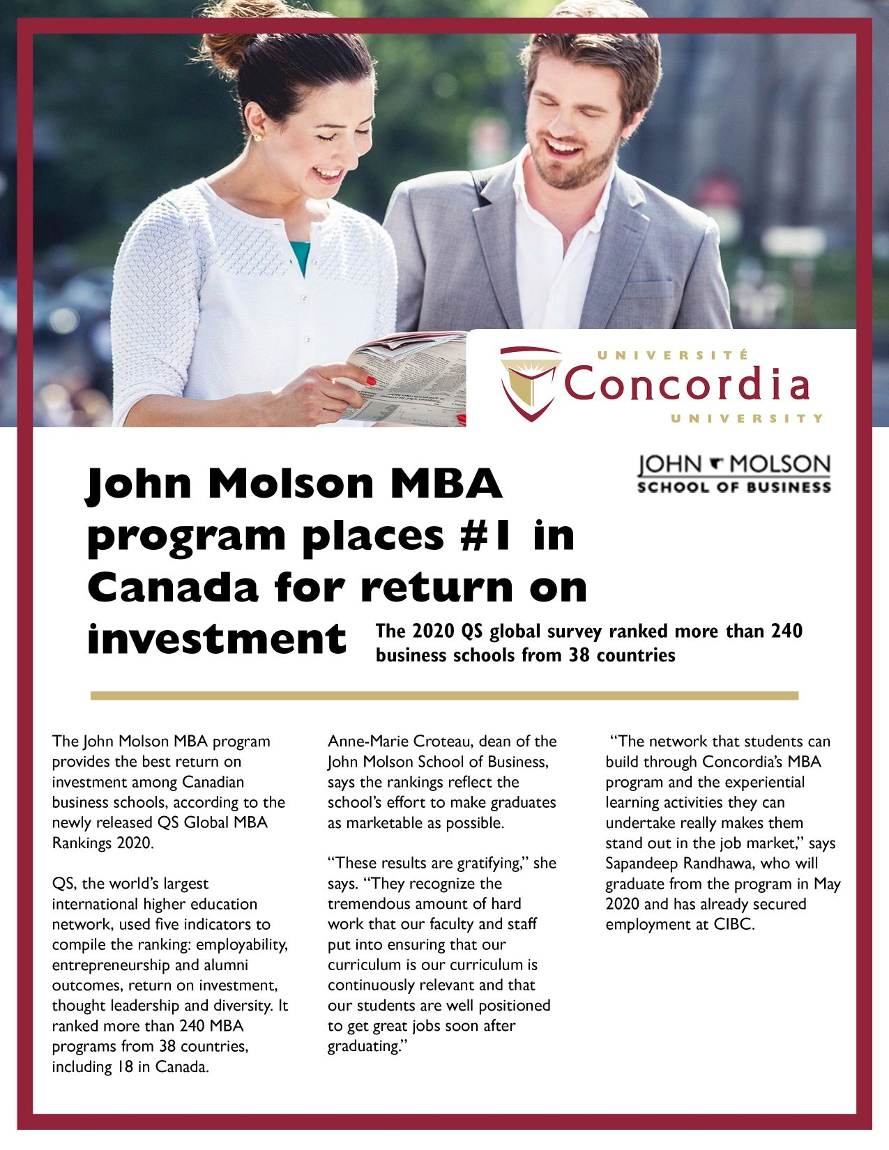 Concordia University December Scoop Ad