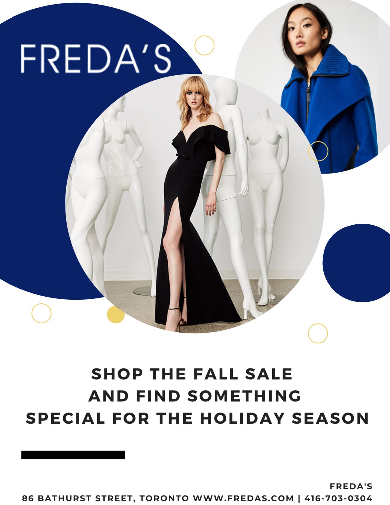 Freda's Toronto December Scoop Ad