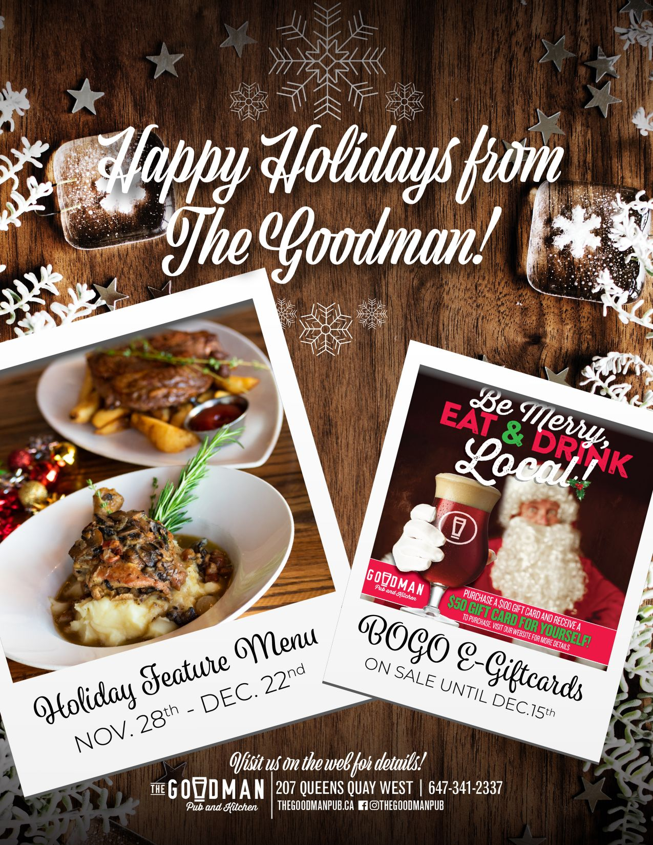 The Goodman Pub December Scoop Ad